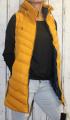 Dámská  dlouhá vesta - žlutá - hořčicová