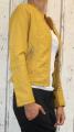 dámská koženková bunda, žlutá bunda z imitace kůže, dámská hořčicová bundička, kožená bunda