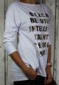Dámské bavlněné tričko/tunika dl.rukáv - bílé