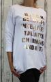Dámské bavlněné tričko dl.rukáv dámská tunika Italy Moda