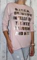 Dámské bavlněné tričko/tunika dl.rukáv - růžové