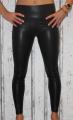 dámské lesklé legíny, černé dámské legíny, koženkové černé dámské legíny, dámské kalhoty Italy Moda