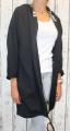 Dámské sako dámský bavlněný kardigan černý dámský teplákový kardigan dámská mikina