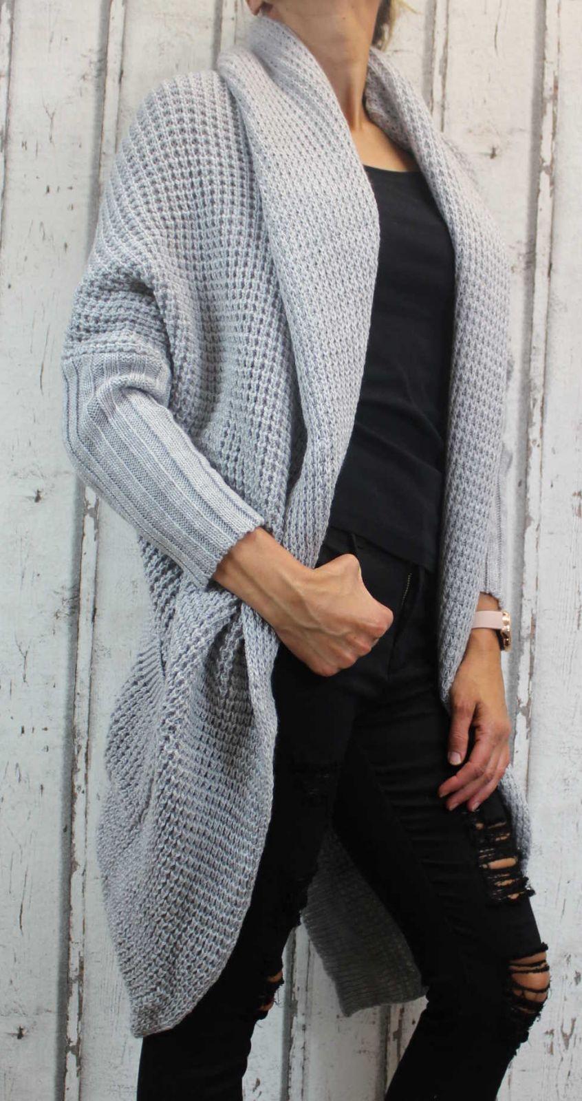 Dámský dlouhý pletený kardigan dámský dlouhý svetr Italy Moda