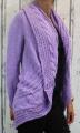 Dámský pletený kardigan - fialový