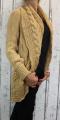 Dámský pletený kardigan - hořčicový