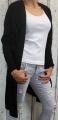 Dámský dlouhý pletený kardigan - černý 2