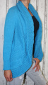 Dámský pletený kardigan - modrý