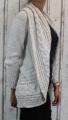 Dámský pletený kardigan - béžový