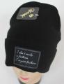 pletená čepice černá, dámská čepice, dětská čepice