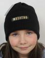 Uni čepice pro děti i dospělé - Mosheno černá