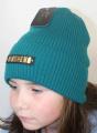Uni čepice pro děti i dospělé - Mosheno zelená
