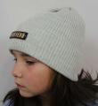 Uni čepice pro děti i dospělé - Mosheno šedá