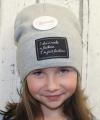Uni čepice pro děti i dospělé - šedá