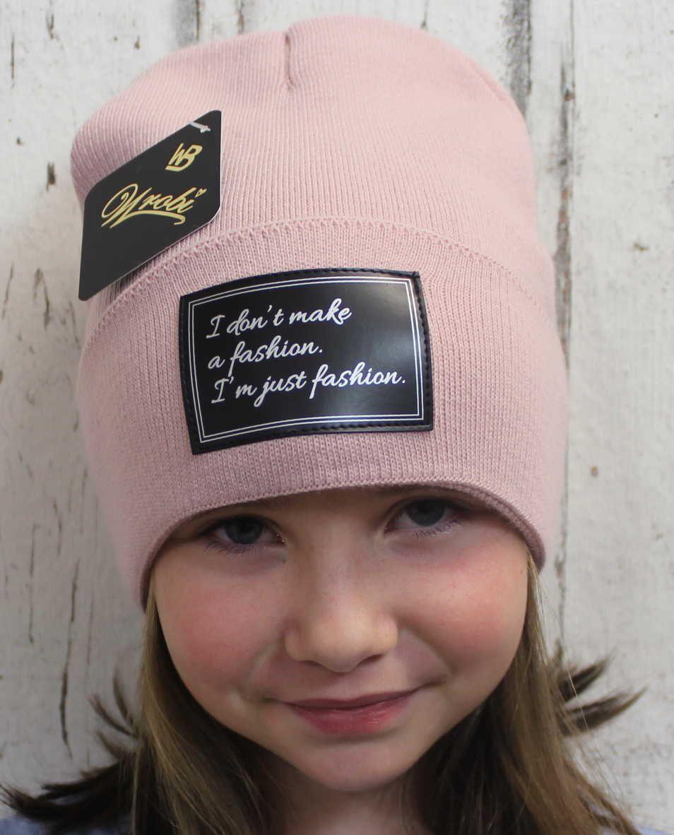 pletená čepice starorůžová, dámská čepice, dětská čepice