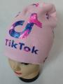 TIK TOK dětská čepice - zateplená - sv.růžová