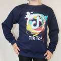 Mikina TIK TOK - tm.modrá