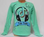 Bavlněné chlapecké tričko TIK TOK - zelené