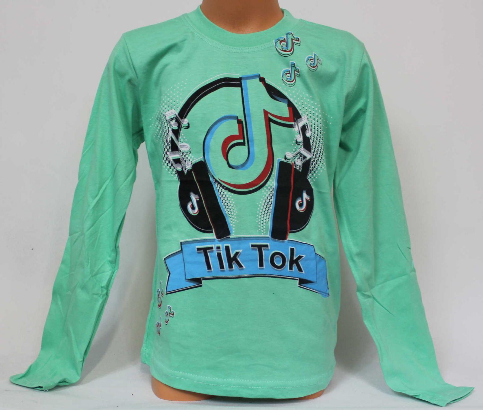 TIK TOK tričko, chlapecké tričko Tik Tok, triko dlouhý rukáv Tik Tok, bavlněné tričko Tik Tok