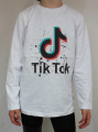 TIK TOK  tričko dlouhý rukáv - bílé 2