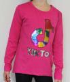 TIK TOK dívčí tričko - tmavě růžové