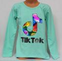 Dívčí bavlněné tričko TIK TOK - zelené