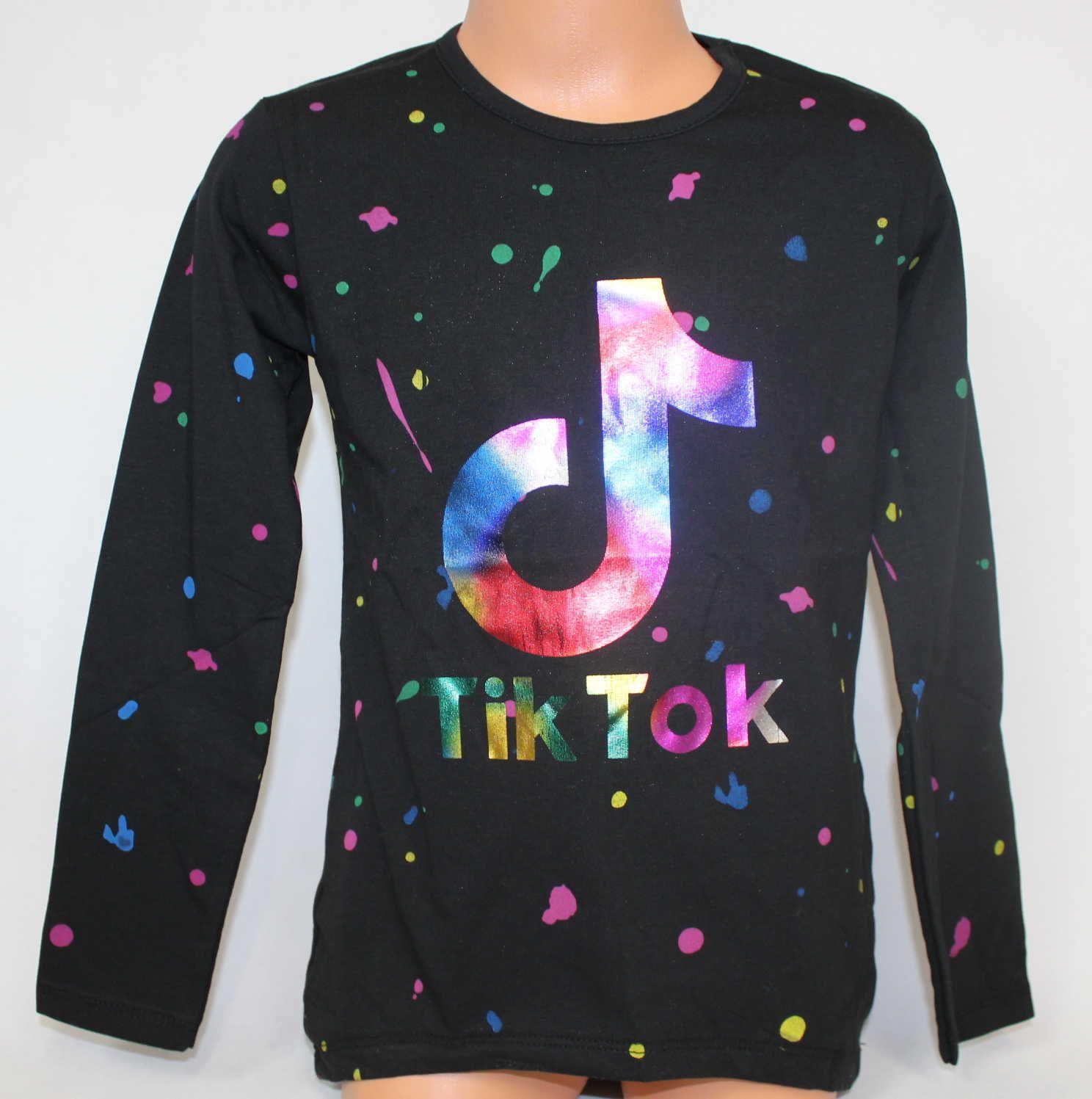 Tik Tok tričko, triko dlouhý rukáv Tik Tok, Tik Tok oblečení, bavlněné tričko Tik Tok, dívčí tričko TIK TOK Tomurcuk