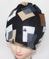 Šátek, nákrčník, dětský nákrčník, dámský nákrčník, dámská čepice, černá dětská čepice
