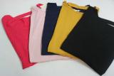 Dámské volné tričko dl.rukáv - spadlá ramena - starorůžové
