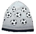 Bavlněná čepice s míčem - šedá