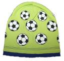 Bavlněná čepice s míčem -sv.zelená