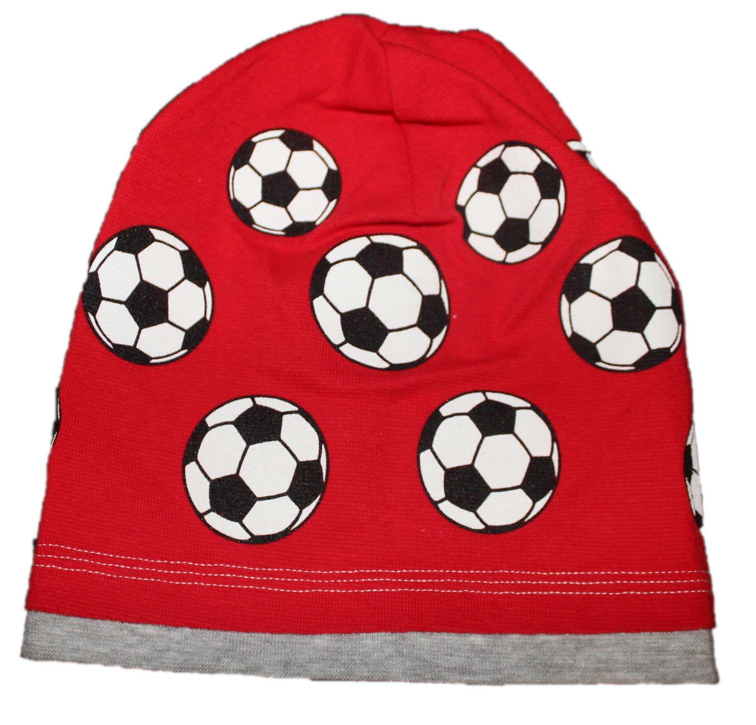 bavlněná čepice s míčem, červená čepice s balonem, fotbalová čepice, chlapecké bavlněná čepice s míčem