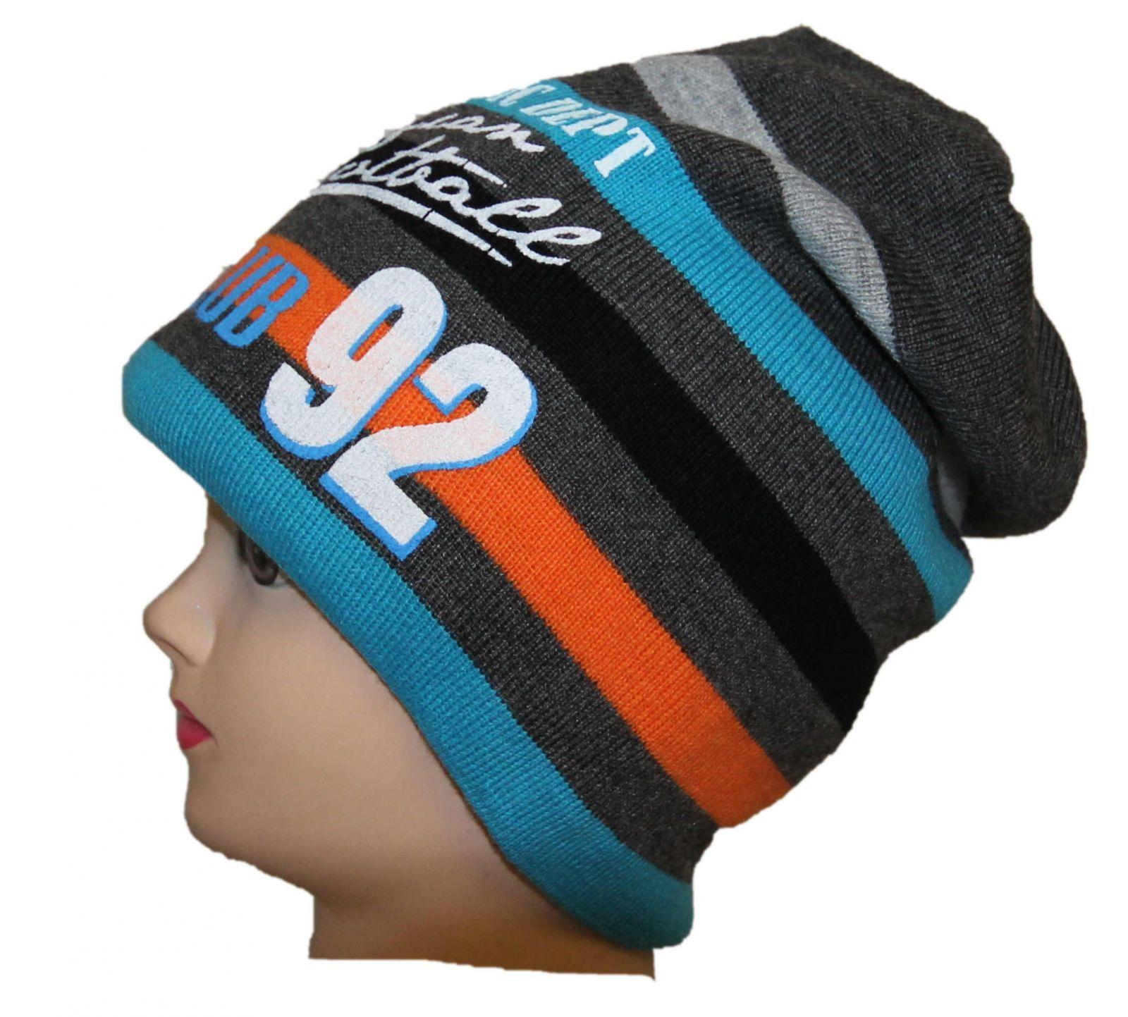 chlapecká čepice, pruhovaná čepice, zateplená čepice