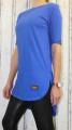 Dámské dlouhé tričko/tunika s rozparky - modré