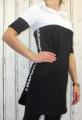 Dámské teplákové šaty - černo-bílé