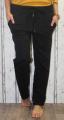 Dámské bavlněné tepláky s černou šňůrkou - černé