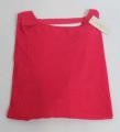 Dámské volné tričko dl.rukáv - spadlá ramena - tm.růžové