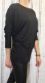 Dámské volné tričko dl.rukáv - spadlá ramena - černé 2