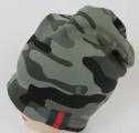 Dětská bavlněná maskáčová čepice - khaki - 1