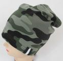 Dětská bavlněná maskáčová čepice - khaki 2