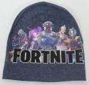 Dětská bavlněná čepice - Fortnite - modrá