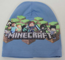 Dětská bavlněná čepice - Minecraft - sv.modrá
