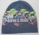 Dětská bavlněná čepice - Minecraft - tm.modrá