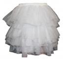 Tylová sukně - bílá