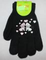 Dětské prstové rukavice - černé - kočky