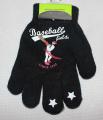Dětské prstové rukavice - černé Baseball