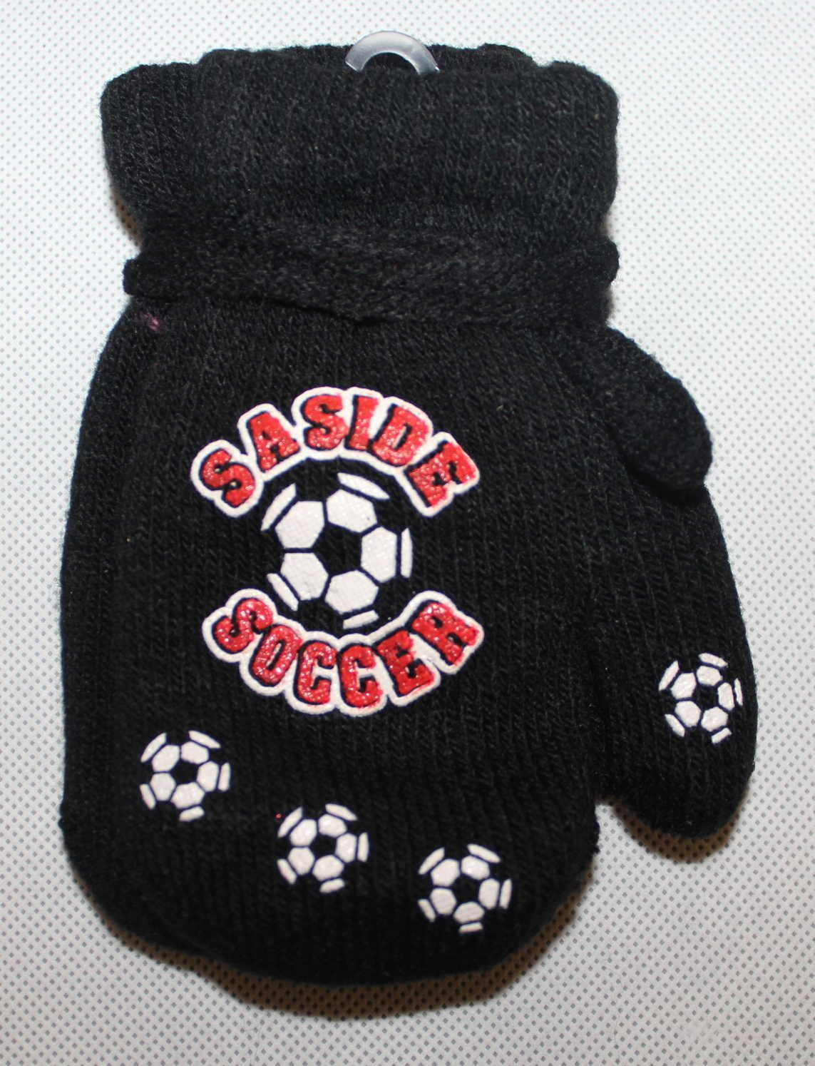 Dětské rukavice, dětské palčáky se šňůrkou, slabé rukavice, chlapecké palčáky s míčem, pletené rukavice palčáky, dětské rukavice na šňůrku