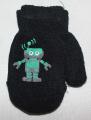 Rukavice palčáky - černé s robotem