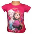 Tričko krátký rukáv - Frozen - růžové