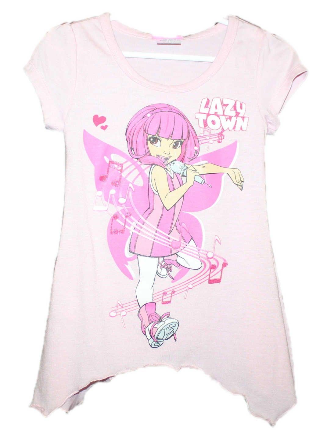 Dětské tričko Lazy Town, dívčí tričko Lazy Town, disnesy tričko, růžové tričko Lazy Town Disney